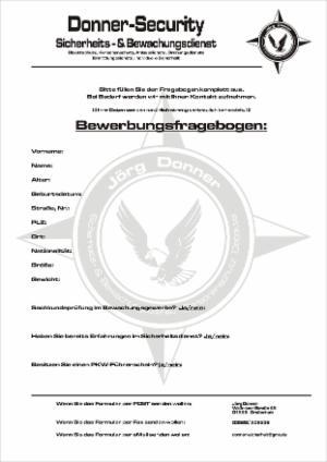 bewerbung wwwdonner securityde - Bewerbung Sicherheitsdienst